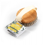 Exfoliating Body Brush Made From Natural Bristles & Olive Wood